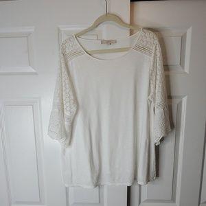 Loft Lace Sleeves T-Shirt
